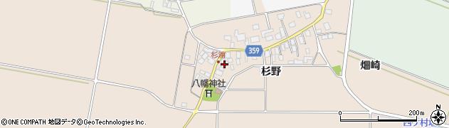 山形県東田川郡庄内町杉浦周辺の地図
