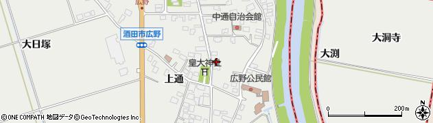 山形県酒田市広野上通14周辺の地図