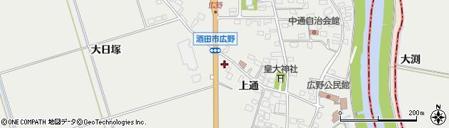 山形県酒田市広野上通119周辺の地図