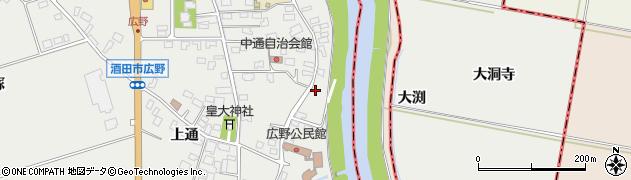 山形県酒田市広野中通230周辺の地図