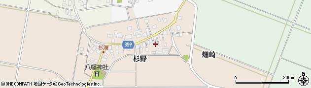 山形県東田川郡庄内町杉浦杉野38周辺の地図