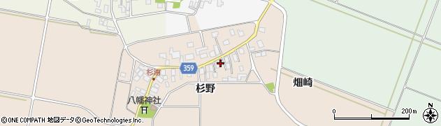 山形県東田川郡庄内町杉浦杉野36周辺の地図