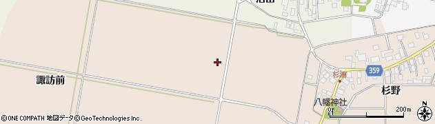 山形県東田川郡庄内町杉浦諏訪前周辺の地図