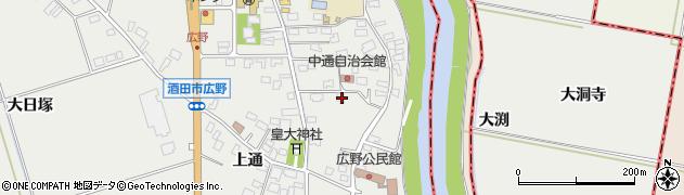 山形県酒田市広野上通2周辺の地図