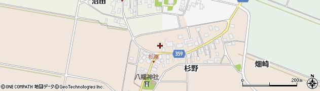 山形県東田川郡庄内町杉浦杉野17周辺の地図