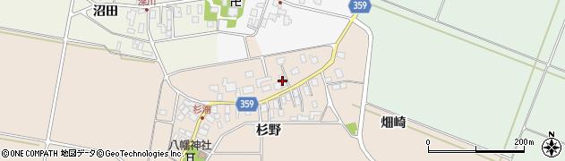 山形県東田川郡庄内町杉浦杉野37周辺の地図