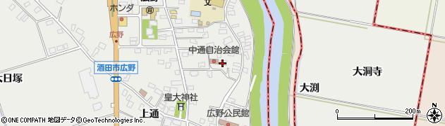 山形県酒田市広野中通3周辺の地図