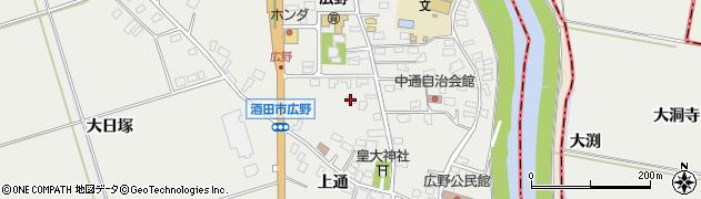 山形県酒田市広野上通134周辺の地図