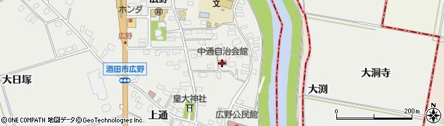 山形県酒田市広野中通4周辺の地図