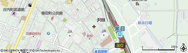 山形県東田川郡庄内町余目駅前周辺の地図