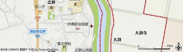 山形県酒田市広野中通171周辺の地図