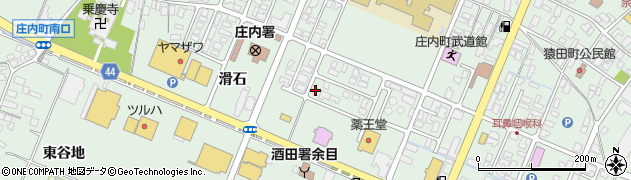 山形県東田川郡庄内町余目滑石周辺の地図