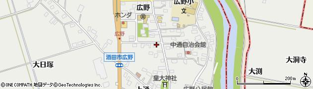 山形県酒田市広野上通136周辺の地図