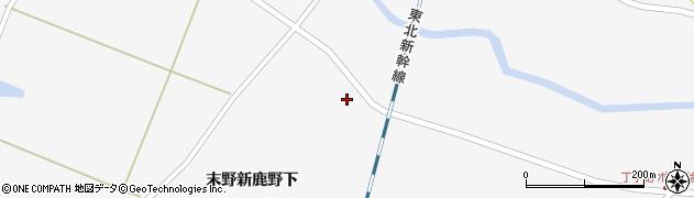 宮城県栗原市金成末野新鹿野下周辺の地図