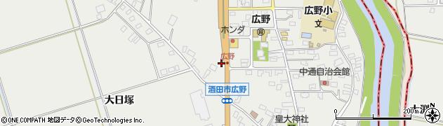 山形県酒田市広野上通147周辺の地図