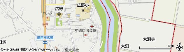 山形県酒田市広野中通18周辺の地図