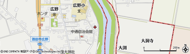 山形県酒田市広野中通155周辺の地図