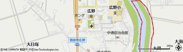 山形県酒田市広野中通40周辺の地図