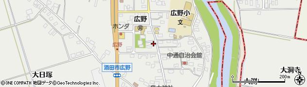 山形県酒田市広野中通24周辺の地図