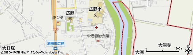山形県酒田市広野中通20周辺の地図