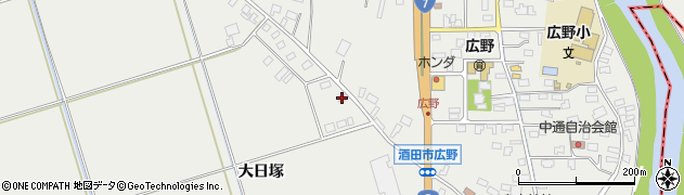 山形県酒田市広野大日塚75周辺の地図