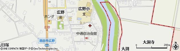 山形県酒田市広野中通19周辺の地図