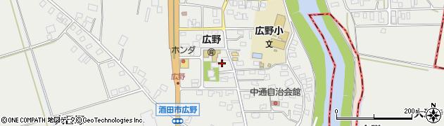 山形県酒田市広野中通周辺の地図
