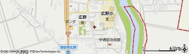 山形県酒田市広野中通43周辺の地図