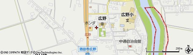 山形県酒田市広野中通33周辺の地図