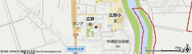 山形県酒田市広野中通41周辺の地図