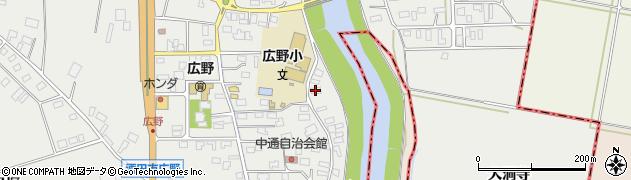 山形県酒田市広野中通132周辺の地図