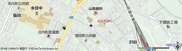 山形県東田川郡庄内町余目三人谷地25周辺の地図
