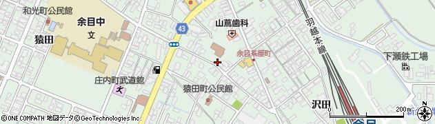 山形県東田川郡庄内町余目三人谷地26周辺の地図