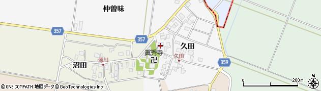 山形県東田川郡庄内町久田久田39周辺の地図