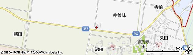 山形県東田川郡庄内町久田仲曽味周辺の地図