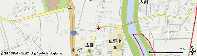 山形県酒田市広野中通92周辺の地図