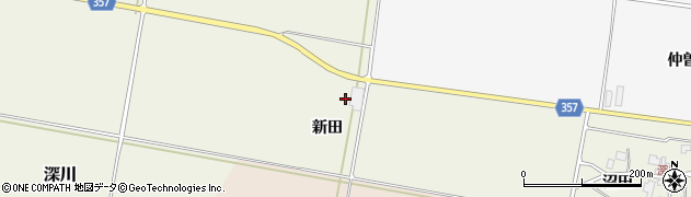山形県東田川郡庄内町深川新田周辺の地図