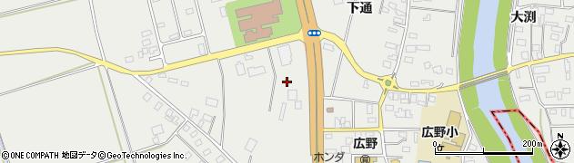 山形県酒田市広野上通183周辺の地図