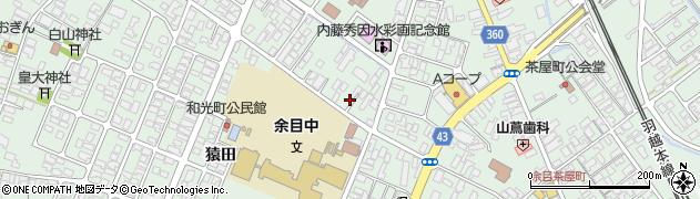 山形県東田川郡庄内町余目三人谷地74周辺の地図