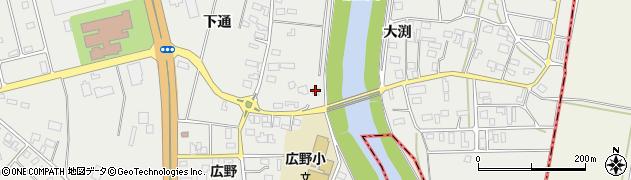 山形県酒田市広野下通3周辺の地図