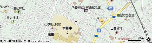 山形県東田川郡庄内町余目三人谷地72周辺の地図