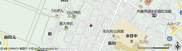 山形県東田川郡庄内町余目猿田72周辺の地図