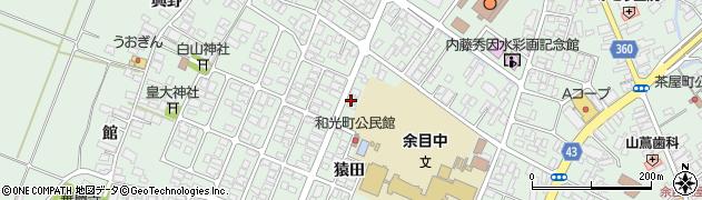 山形県東田川郡庄内町余目猿田24周辺の地図