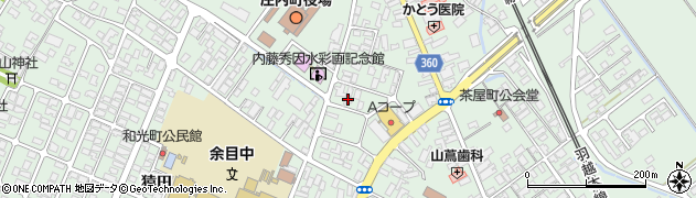 山形県東田川郡庄内町余目三人谷地182周辺の地図