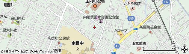 山形県東田川郡庄内町余目三人谷地周辺の地図