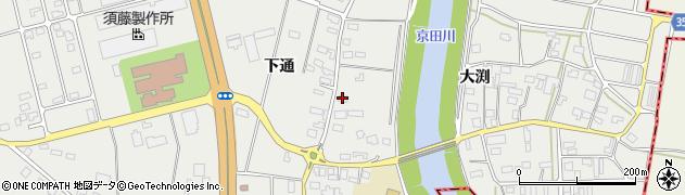 山形県酒田市広野下通77周辺の地図