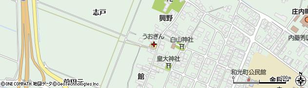 山形県東田川郡庄内町余目興野57周辺の地図