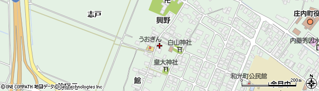山形県東田川郡庄内町余目興野3周辺の地図
