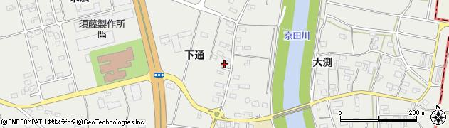 山形県酒田市広野下通110周辺の地図