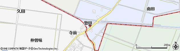 山形県酒田市局惣田30周辺の地図